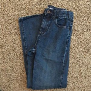 Children's Place Straight Fit Dark Wash Jeans - 10